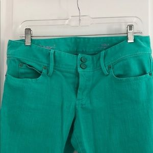 Lilly Pulitzer green Worth skinny mini jeans